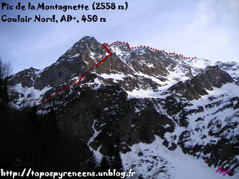 couloir nord de la montagnette
