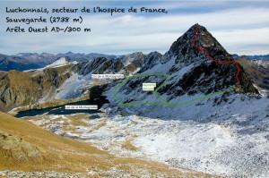 Pic de Sauvegarde, lac de la Montagnette depuis pic de la Montagnette